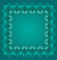 Hand-drawn border or frame with lotuses in east vector image