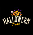 happy halloween design template with smilling vector image vector image