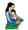 happy mother day portrait vector image vector image