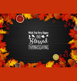 happy thanksgiving day with leaves on wooden vector image vector image