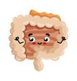human intestine cute cartoon character vector image vector image