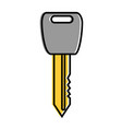 key car isolated icon vector image vector image