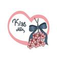 kiss me under the mistletoe vector image