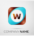 letter w logo symbol in the colorful square on vector image vector image