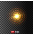 light circular shine lens flare effect icon vector image vector image