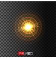 light circular shine lens flare effect icon vector image vector image