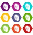 modern back pocket icons set 9 vector image