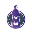 muslim hijab fashion logo vector image vector image