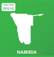 namibia map icon business concept namibia vector image vector image
