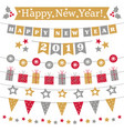 new year 2019 bunting set vector image vector image