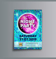 night party background template designed vector image