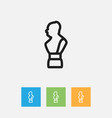 of teach symbol on statue vector image vector image