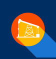 oil drilling rig sign white icon on vector image