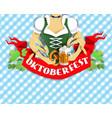 oktoberfest beer festival banner poster vector image