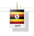photo of uganda flag vector image