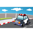 Police on the road vector image