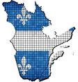 Quebec map with flag inside vector image