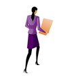 rear view of businesswoman vector image