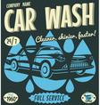 Retro car wash sign vector image vector image