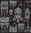 seamless pattern with african ethnic tribal masks vector image vector image