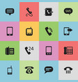 set of 16 editable communication icons includes vector image vector image