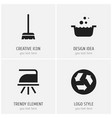 set of 4 editable cleaning icons includes symbols vector image vector image