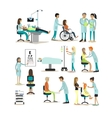 set of doctors and patients characters vector image vector image