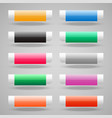 set shiny web buttons vector image vector image