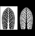 silhouettes symmetrical trees vector image vector image