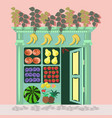 small fruit store vector image vector image