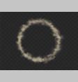 smoke circle round smog cloud cigarette vapor vector image vector image