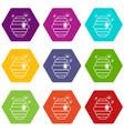 swarm icons set 9 vector image vector image