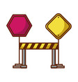 traffic signal with fence vector image
