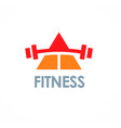 triangle fitness logo vector image vector image
