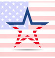 usa flag in star shape american star vector image vector image