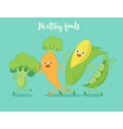 Vegetables fun run vector image vector image