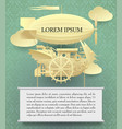 vintage paper steampunk template with a complex vector image vector image