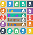 Weight icon sign Set of twenty colored flat round vector image vector image