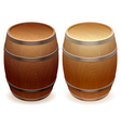 wooden barrels vector image