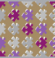 seamless background with puzzle pieces vector image