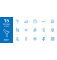 15 body icons vector image vector image