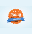 15-day money back guarantee badge