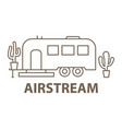 airstream in linear vector image