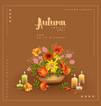 autumn poster template vector image vector image