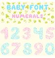 Baby font figures vector image