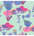 birds and floral background vector image vector image