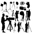 Cameraman film objects vector | Price: 1 Credit (USD $1)