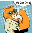 Cat success we can do it vector image