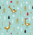 christmas and new year pattern vector image