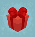 christmas gift flat vector image vector image